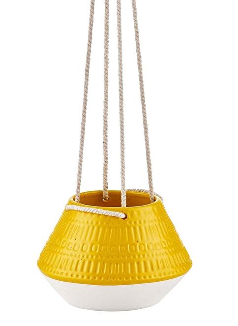 The Mia Çiçeklik - 20 Cm Sarı Sarı
